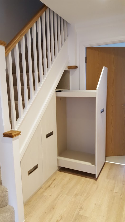 Under stairs drawers storage units clive anderson furniture for Under stairs drawers plans