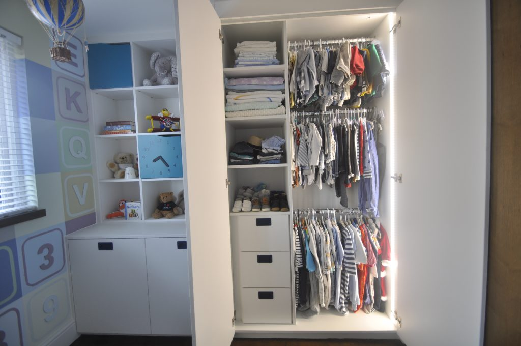 Internal layout nursery wardrobe