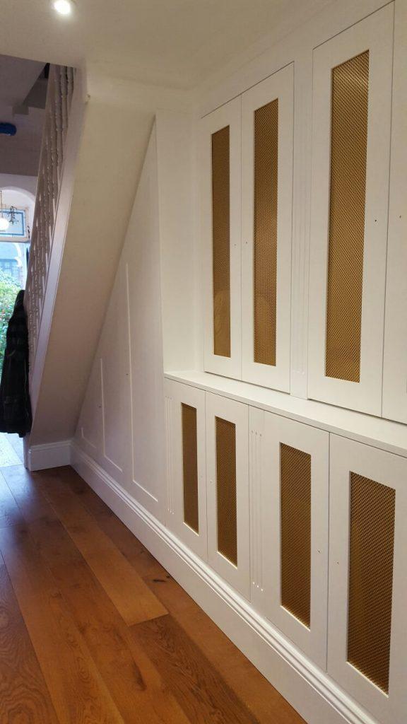 built-in under stairs cupboard