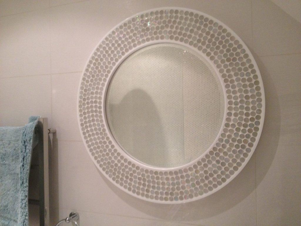Custom-made bathroom mirror