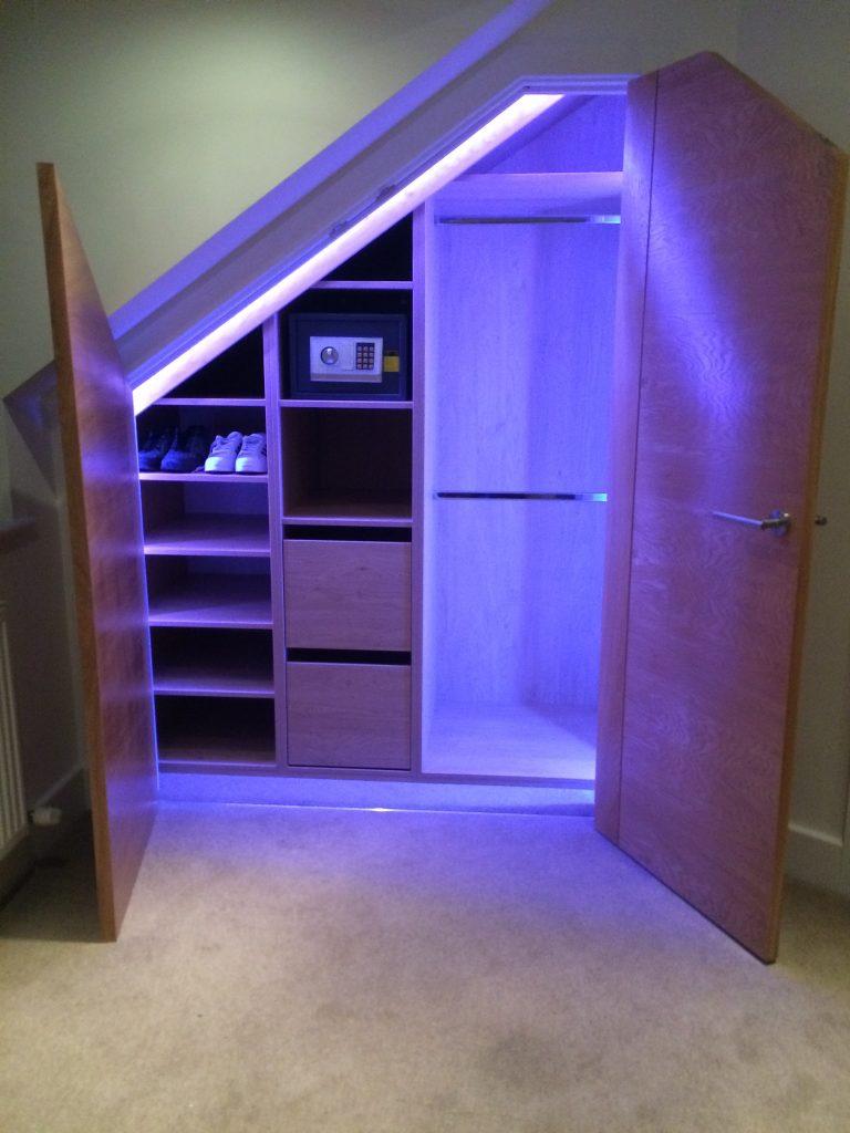 Loft angled wardrobe