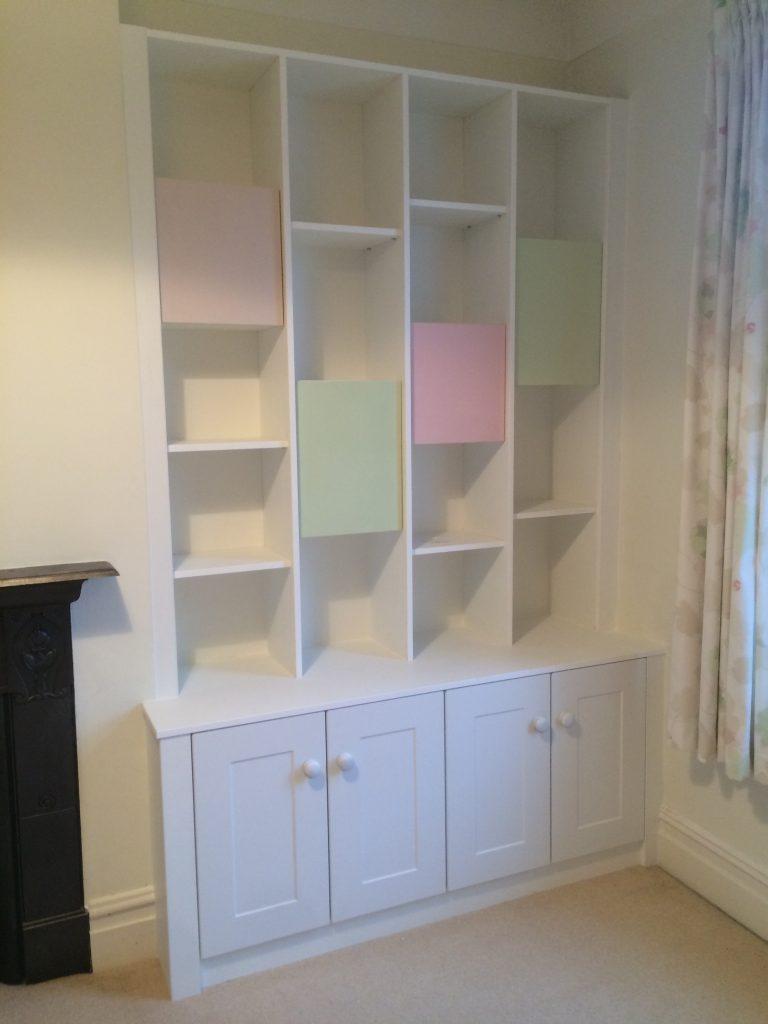 Alcove Bookcase and bottom cupboard