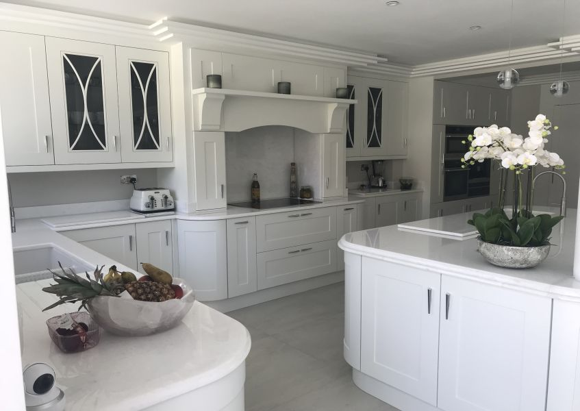custom-made white kitchen