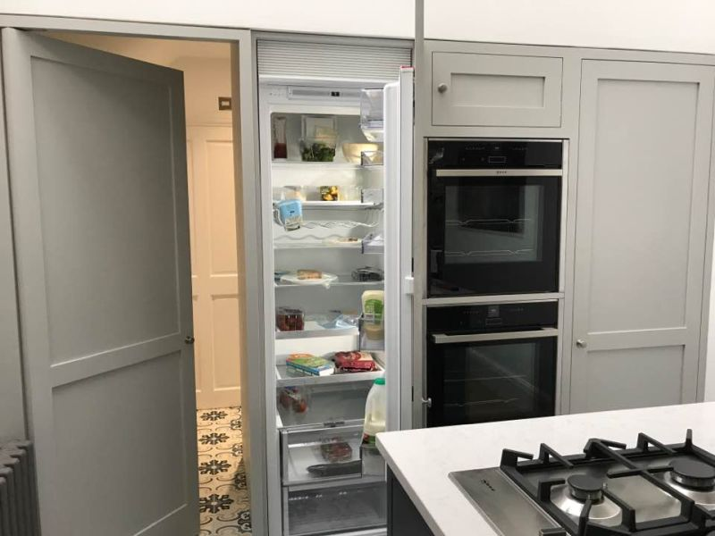 hidden kitchen door shaker grey