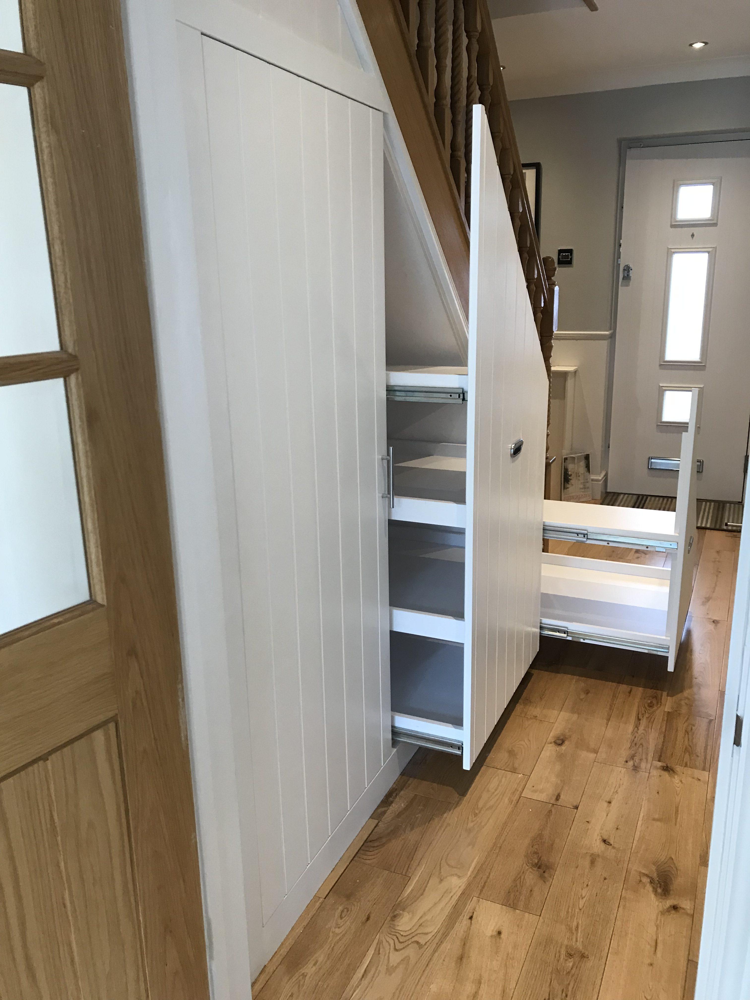 Under-stairs storage solution